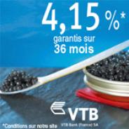 VTB BANK : 4,15% garantis pendant 36 mois