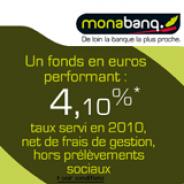 MONABANQ : Assurance Vie à 2,5% nets minimum garantis en 2011