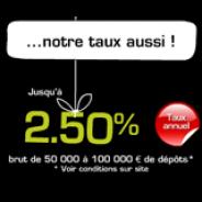 MONABANQ : Jusqu'à 2,50% bruts et un taux personnalisé à partir de 100 000 euros