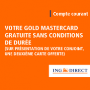 ING DIRECT : Compte courant sans frais et la carte Gold MasterCard gratuite