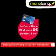 MONABANQ : La carte bleue VISA gratuite et jusqu'à 60% d'économies sur les frais bancaires