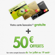 FORTUNEO : la carte bancaire MasterCard gratuite et une prime de 50 euros