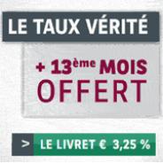 CORTAL CONSORS : Le livret épargne à 3,25% garantis sur 1 an et le 13ème mois offerts !