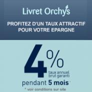 GAN PATRIMOINE : Le Compte sur Livret Orchys à 4% pendant 5 mois et jusqu'à 100000 euros de dépôts