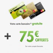 FORTUNEO : Une prime de 75 euros et la carte bancaire MasterCard gratuite