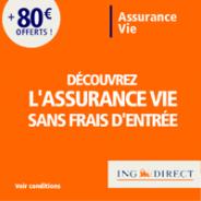 ING DIRECT : 80 euros offerts pour toute première souscription à une Assurance Vie