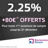 BOURSORAMA BANQUE : 80 euros offerts pour toute ouverture d'un compte sur livret