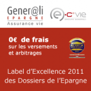 GENERALI EPARGNE : Assurance-Vie avec 0 frais et un label d'Excellence 2011