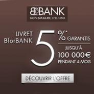 BforBANK : Livret boosté à 5% pendant 4 mois !