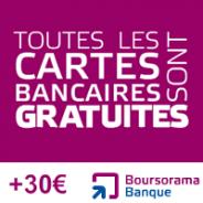 BOURSORAMA BANQUE : Visa PREMIER gratuite + 30 euros offerts