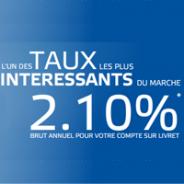 BOURSORAMA BANQUE : Compte sur Livret 2,10% brut annuel !