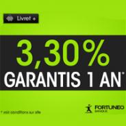 FORTUNEO : Livret+ 3,30% garantis pendant 1 an jusqu'à 100000 euros