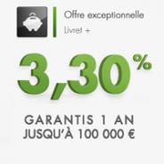 FORTUNEO : Livret à 3,30% garantis 1 an jusqu'à 100000 euros