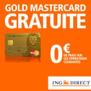 ING DIRECT : Nouveauté côté application mobile et la Gold MasterCard gratuite !