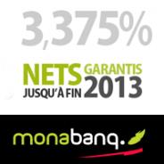 MONABANQ : Assurance-vie à 3,375% garantis au titre de l'année 2013