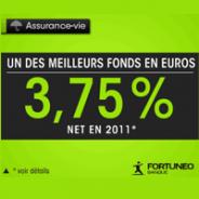 Assurance-vie FORTUNEO à frais réduits : fonds en euros 3,75% net en 2011