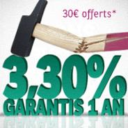 CORTAL CONSORS : Livret à 3,30% garantis pendant 1 an et 30 euros offerts !