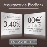 BforBank assurance-vie avec 80 euros offerts !