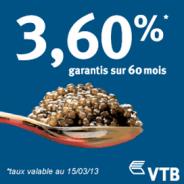 VTB BANK : Nouveaux taux attractifs en vigueur sur le compte à terme !