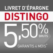 PSA BANQUE : Taux boosté à 5,5% brut pendant 4 mois pour le Livret Distingo