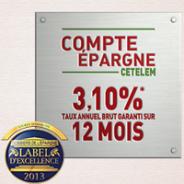 Cetelem Epargne : Un taux compétitif à 3.10%