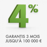Belle performance pour le Livret + de Fortuneo : 4% pendant 3 mois jusqu'à 100 000 €