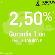 Livret + Fortuneo : 2,50% garantis pendant 1 an jusqu'à 100 000 € !