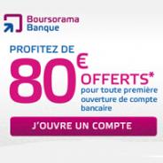 80€ offerts et la carte Visa Premier gratuite chez Boursorama Banque !