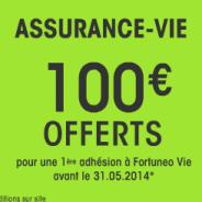 100 euros offerts pour toute première adhésion à l'assurance-vie de Fortuneo