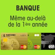 Compte bancaire sans frais et la carte bancaire gratuite sans condition de durée chez Fortuneo
