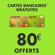 80€ offerts + la carte bancaire gratuite chez Fortuneo