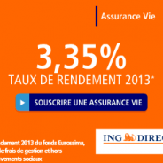 3,35% rendement net du Fonds Eurossima en 2013 pour l'assurance vie ING DIRECT