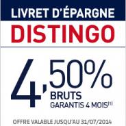 PSA Banque : Livret Distingo à 4,50% pendant 4 mois