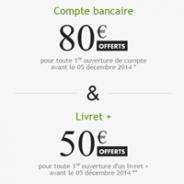 Fortuneo : Cumulez la puissance d'un compte courant et d'un livret épargne = 130€ de prime !