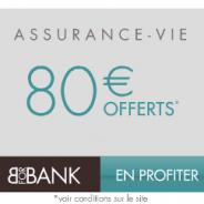 80€ offerts sur le contrat BforBank Vie