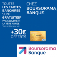 Compte bancaire Boursorama Banque Essentiel+ avec la carte VISA gratuite + 30 € !