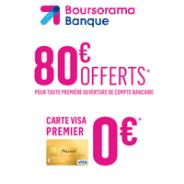 Compte courant avec la carte bancaire gratuite et une prime de 80€ offerte !