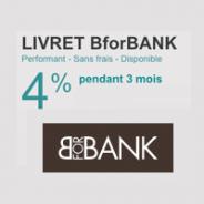 Compte Sur Livret BforBank à 4% pendant 3 mois jusqu'à 100 000 €
