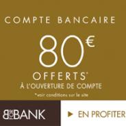 VISA PREMIER gratuite et 80€ offerts pour toute ouverture d'un compte courant BforBank