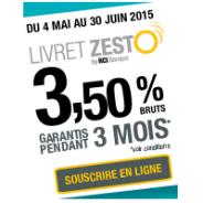 Livret épargne Zesto : 3,50% pendant 3 mois