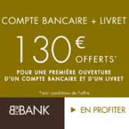 VISA PREMIER gratuite et 80€ offerts pour toute ouverture d'un compte courant BforBank + 50€ pour l'ouverture d'un livret épargne