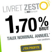 Le livret ZESTO de RCI Banque : 1,70% brut annuel