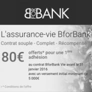 L'assurance-vie de BforBank : prime de 80 €!