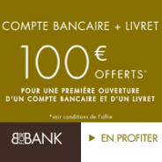 VISA PREMIER gratuite et 80€ offerts pour toute ouverture d'un compte courant BforBank + 20€ pour l'ouverture d'un livret épargne